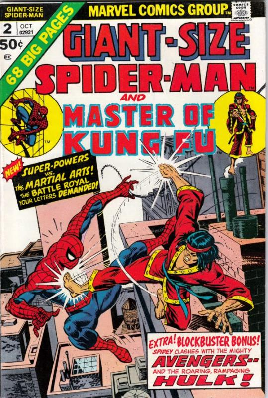 Giant-Size Spider-Man and Master of Kung Fu #2 (Oct-74) VF/NM High-Grade Spid...