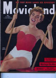Movie Life-Debbie Reynold-Terry Moore-Burt Lancaster-Mitzi Gaynor-May-1954