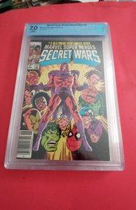 Marvel Super Heroes Secret Wars #2 CBCS 7.0 WP / NEWSSTAND /  (1984)