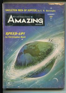 Amazing Stories 1/1964-Edgar Rice Burroughs-pulp stories-P