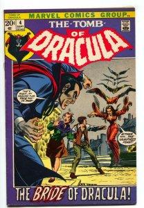 Tomb of Dracula #4 -Bride of Dracula-Marvel comic book FN+