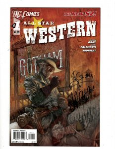 All Star Western # 1 NM DC Comic Book SIGNED Justin Gray & Jimmy Palmiotti HR8