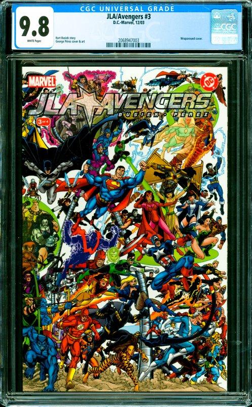 JLA/Avengers #3 CGC Graded 9.8 Wraparound cover.