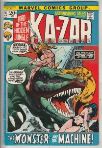 Astonishing Tales #14 (Oct-72) VF+ High-Grade Ka-Zar, Zabu
