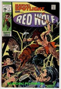 MARVEL SPOTLIGHT #1, FN+, Red Wolf, Neal Adams, Wally Wood, 1971, more in store