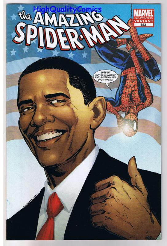 AMAZING SPIDER-MAN #583, VF/NM, Barack Obama, 3rd, Variant, more ASM in store