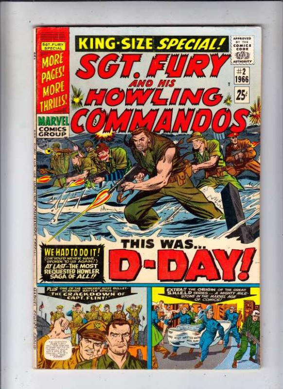 Sgt. Fury and His Howling Commandos King-Size #2 (Aug-66) FN/VF Mid-High-Grad...