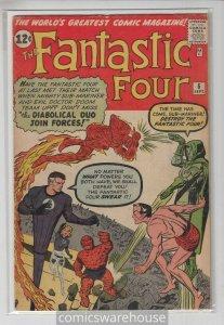 FANTASTIC FOUR (1961 MARVEL) #6 VG+ A04780