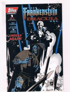 The Frankenstein And Dracula War # 1 VF/NM Topps Comic Book Roy Thomas Nunis SW7