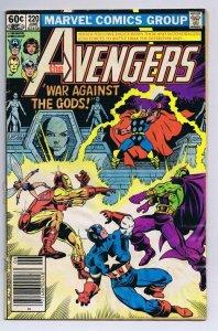 Avengers #220 ORIGINAL Vintage 1982 Marvel Comics Drax