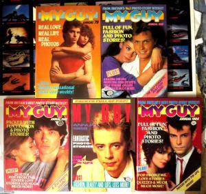 MY GUY - 5 British Annuals IPC Magazines UK Love Life HB Photos VF\+ 1979-1988