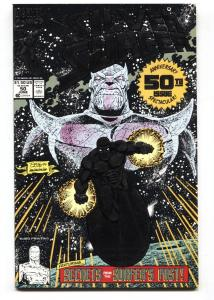 Silver Surfer #50 3rd printing 1991- Thanos- Marvel Foil cover nm-