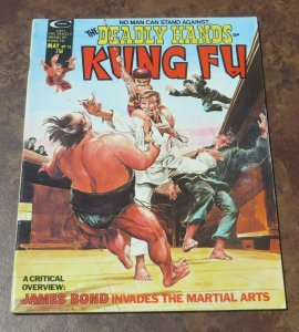 The Deadly Hands of Kung Fu #12 VF High Grade Magazine Martial Arts James Bond