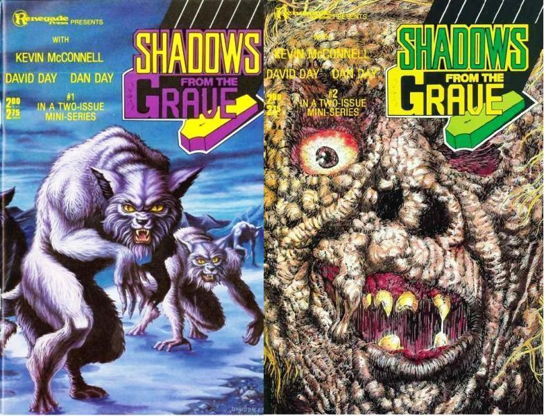 SHADOWS FROM THE GRAVE (1987 RE) 1-2  horror anthology