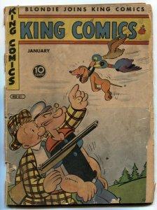 King Comics #81 1943- Popeye- Phantom- missing centerfold