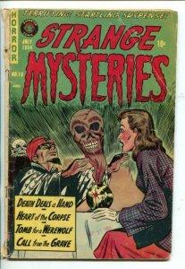 STRANGE MYSTERIES #18-1954-SEANCE COVER-PRE-CODE HORROR-SKULL-good minus
