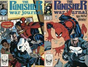 PUNISHER WAR JOURNAL 14-15 Spiderman, neo-Nazis