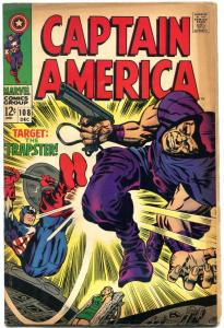 CAPTAIN AMERICA #108 1968 MARVEL COMICS JACK KIRBY ART FN