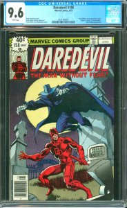 Daredevil #158 CGC Graded 9.6 Frank Miller's run on Daredevil begins. Origin ...