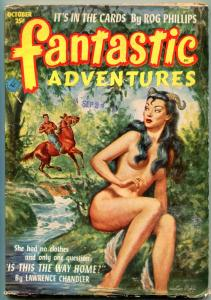 Fantastic Adventures Pulp October 1952- Spicy cover- Rog Philips VG+