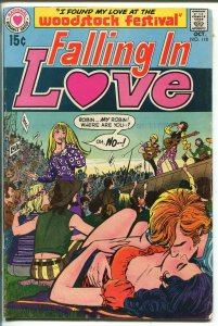 Falling In Love #118 1970-DC-Woodstock Concert issue-rare-key issue-G/VG