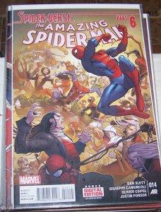 Amazing Spider-Man vol 3 # 14 2015, Marvel spider verse pt 6  miles gwen silk