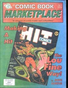 Comic Book Marketplace Fanzine #9- Lou Fine Hit #5 cover FN