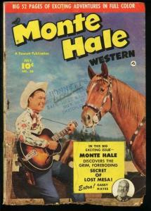 MONTE HALE WESTERN #50-PHOTO COVER-FAWCETT-1950 G