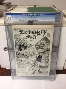 Extremely Silly Comics 1 1986 Early Teenage Mutant Ninja Turtles Cgc 7.5 Ow/W