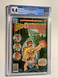 Shade the changing man 1 cgc 9.4 wp dc comics 1977
