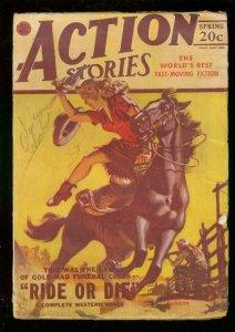 ACTION STORIES PULP SPRING 1947-GOOD GIRL ART CV-SHEENA VG