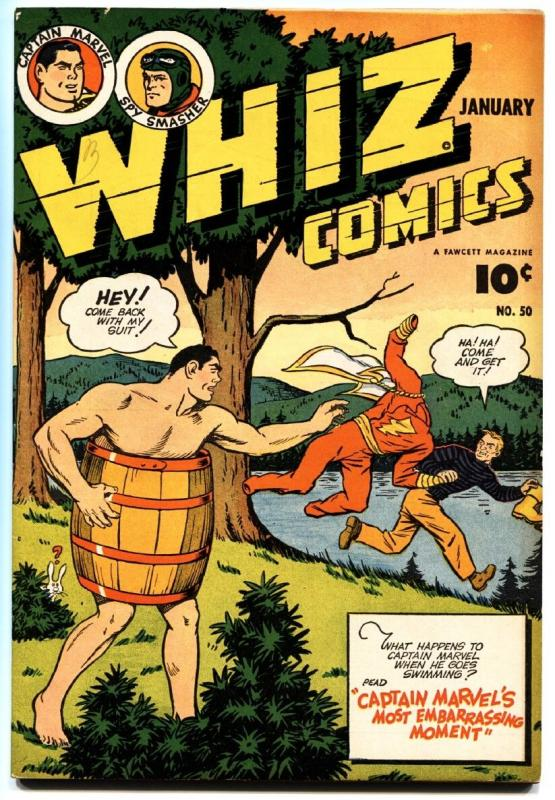 Whiz #50 1944-fawcett-captain marvel-ibis-spy smasher-golden arrow