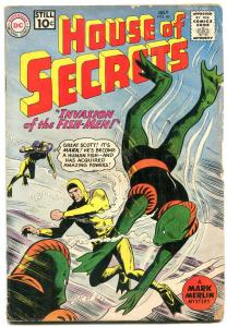 House of Secrets #46 1961- Mark Merlin- DC Silver Age- Scuba cover VG