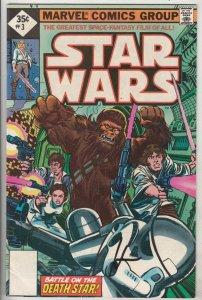 Star Wars Signed #3 (Jul-77) VF/NM High-Grade Luke, Han, Leah, Chewbaca, Obi-...