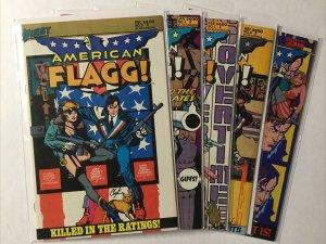 American Flagg 3-5 8 10 Nm- Near Mint- 9.2 First Comics