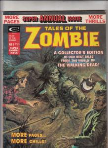 Tales of the Zombies Super Annual #1 (Jan-75) VF/NM High-Grade Zombies