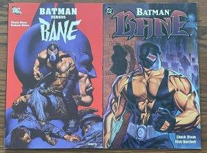 LOT OF 2: BATMAN VERSUS BANE & BATMAN BANE TPB DC Comics NM Dixon Nolan Burchett