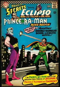 HOUSE OF SECRETS #79-ECLIPSO/PRINCE RA-MAN-1966 VG/FN