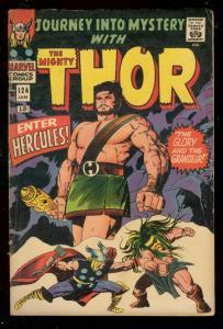 JOURNEY INTO MYSTERY #124 1966-KIRBY-THOR-HERCULES APP. VG