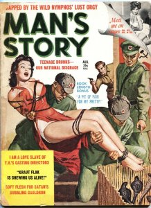 "MAN""S STORY 8/1961-CHINESE COMMIES COBRA TORTURE-BONDAGE-CHEESECAKE"