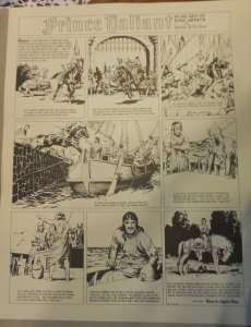 Prince Valiant by Hal Foster Syndicate Proof 11/17/1940  Size 16 x 20 inches