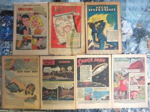 Coverless Comics Lot #7 - 7 books ADVENTURE 1960s vintage Classics Ill. lot VG/+