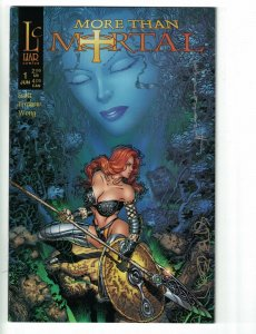 More Than Mortal #1 VF/NM variant signed by Sharon Scott + Steve Firchow - Liar