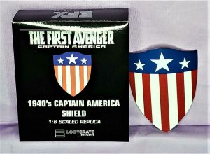 Loot Crate Exclusive 1940's CAPTAIN AMERICA SHIELD 1:6 Scaled Replica (EFX)!