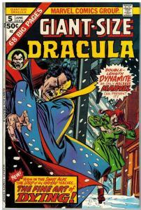TOMB OF DRACULA GS 5 VG June 1975 COMICS BOOK