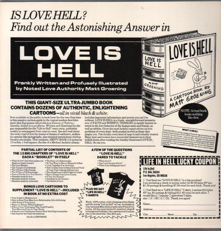 Love Is Hell 1984-Matt Groening-1st edition-cartoon book-