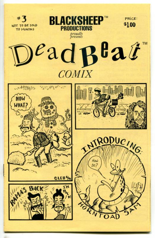 DEADBEAT COMIX #3 ashcan, NM, 1996, Leo Garcia, BlackSheep, more Indies in store