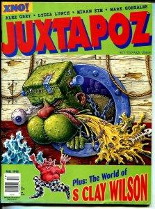 Juxtapoz #4 1995-Art Thru Chaos-XNO-Alex Grey-Hot Rods-VG