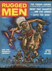MAN'S MAGAZINE JANUARY 1958-CLARENCE DOORE-NAZI-SIBERIA-FN/VF