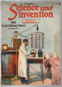Science & Invention 9/1920-2nd issue-Frank R Paul art-sci-fi story-VG